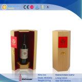 Cuero PU cilíndrica única botella de vino (6460)