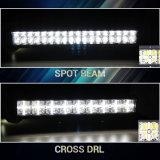 Barre combinée en travers en gros de l'éclairage LED 23inch de l'oeil 7D 144W d'ange