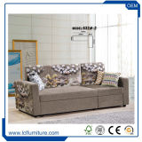 Современный дизайн 2017 Новый европейский стиль вытащить диван кожаный диван-кровать