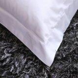 中国の贅沢の100%年の綿の明白で白いサテンのホテルの寝具セット
