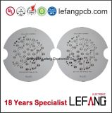 알루미늄은 LED 점화를 위한 Lf HASL 회로판 PCB의 기초를 두었다