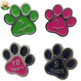 Cão coloridos de forma Pata Ferro Inoxidável Dog Tag