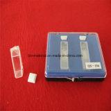 Cubeta de vidrio de cuarzo transparente utilizada en el espectrofotómetro