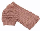 Шарф Beanie шарфа зимы женщин теплым установленным связанный кабелем (SK163S)