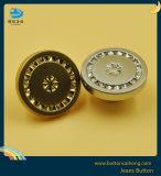 Accesorios de ropa logotipo grabado de aleación de zinc metálico Botón Jean