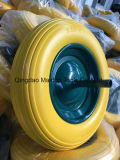 工場3.50-8平らで自由なPUの泡のトロリー車輪