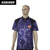 Le Mens Sec-A ajusté la chemise de polo avec le modèle fait sur commande de logo de Subliamtion