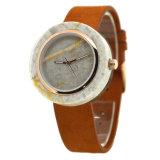 Reloj único del mármol de la colección de reloj de la dial de la caja del movimiento posterior de madera de mármol natural de Japón