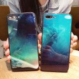 셀룰라 전화 iPhone x를 위한 유행 만화 PC 전화 상자를 위한 도매 고품질 강화 유리 덮개 더하기 8 7