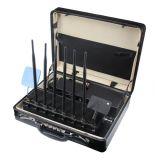 De zwarte Draagbare Stoorzender van de Telefoon van Lte van de Hoge Macht 4G Mobiele, Draadloze Cellulaire GSM CDMA van WiFi van de Telefoon van de Cel Blocker van het Signaal van de Bom/Stoorzender 2g+3G+2.4G+4G+GPS+VHF+UHF
