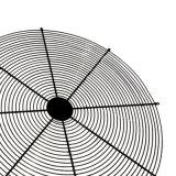 Aço inoxidável / fio metálico revestido de PVC Grade de Proteção do Ventilador