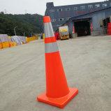 kegel van het Verkeer van pvc van de Basis van 91cm de Oranje Oranje