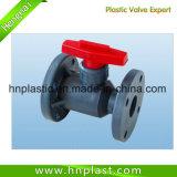 Válvula de bola de brida de plástico de UPVC