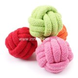 Bola accesoria del juguete del perro de la cuerda del algodón del animal doméstico