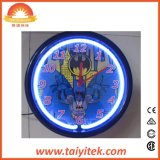 12 Klok van de Muur van het Neon van het Huis van de duim de Decoratieve Goedkope Plastic