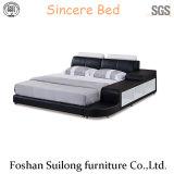 Кровать 3317 Genuin кожаный самомоднейшая