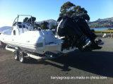Bateau de luxe de côte de bateau gonflable rigide de Liya 27feet avec la cabine