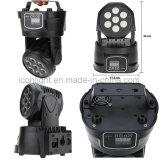 Testa mobile del LED con 7X15W RGBWA/UV 6in1 per Stage/TV Show/DJ/Party