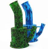 Nuevos tubos del silicón de Unbreakabale del pelele del reciclador del tubo de agua del silicón de los colores 8.5inches del diseño 9 con el Banger del tazón de fuente de cristal y del cuarzo de 2m m