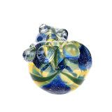 Стеклянные трубки стеклянные трубки подачи воды табачных изделий из стекла ручной труба синего стекла желтого цвета ложки трубопровода