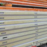 El panel de pared revestido de la espuma de poliuretano del color para la cámara fría