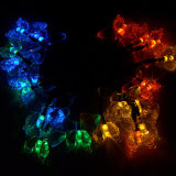 Angeschaltene Mehrfarben-LED Zeichenkette-Solarlichter der Basisrecheneinheits-für Weihnachtsdekoration
