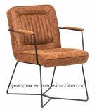 다른 색깔에 있는 직물에 의하여 덮개를 씌우는 방문자 의자