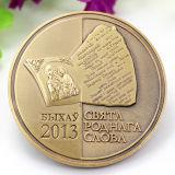 Moneta dorata del ricordo dello spazio in bianco del ricordo dello smalto su ordinazione del metallo