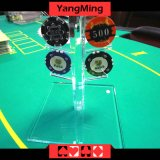 Round 40-42mm Chips (YM-CZ01)를 위한 카지노 Acrylic Poker Chips Case Casino Chips Carrier
