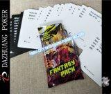 Cartes collectables faites sur commande avec le paquet de clinquant argenté
