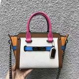 De nieuwe Zakken van de Schouder van het Leer van de Botsing van de Kleur van de Handtas van de Dames van de Stijl voor Vrouwen Emg5162