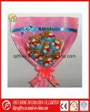 Mini jouet de cadeau de bouquet de fleur de crabot de peluche molle