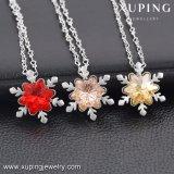 43137 Xuping рождественский подарок из кристаллов Swarovski снежинка форма пульта управления ожерелья Ювелирные изделия