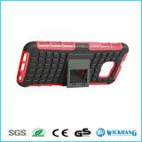 Caixa Shockproof de borracha do telefone móvel da camada dupla híbrida do pneumático