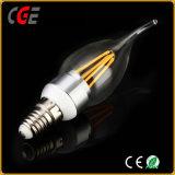 Las lámparas LED de alta calidad Gold/Silver 2W/4W C35 de filamentos de luz de lámpara LED Bombilla LED
