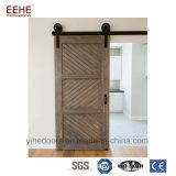 Modèle en bois coulissant en verre intérieur de porte de brame de porte française de grange