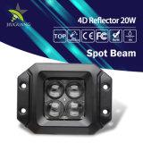 4D Super brillante Searchlight 350m de 20W de iluminación de luz LED de trabajo