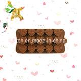 100 % du silicone de qualité alimentaire de 15 formes de tête de la cavité du moule de chocolat