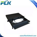 Type tableau de connexions optique de tiroir de 12 faisceaux de fibre de montage sur bâti