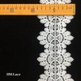 garniture nuptiale de lacet de crochet de 9cm au centre Hmhb771 de lacet de garniture de ville de textile de Guangdong