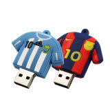 Tendência Pen Drive Flash USB 16GB Barcelona Messi 10 Número Memory Stick PVC Bonitinha U de 4 GB 8 GB de disco Jersey