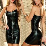 8 novas cores lingerie sexy mulheres de pele artificial vestido Erótico Plus Size Parte Clubwear Zip Feminino Vestuário Fetiche servidão guarda-roupa