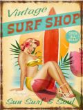 Beach&Belle Sexy Vintage Retro Design Tin assinar por grosso