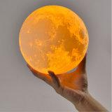 Lampada della luna di stampa dell'indicatore luminoso LED 3D di notte di illuminazione di PLA
