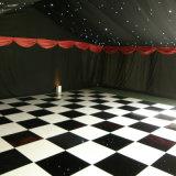Plancher de danse en bois portable noir et blanc danse-de-chaussée