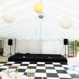Plancher entier Wedding en bois extérieur portatif noir blanc de contre-plaqué de Dance Floor