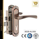 Quadratischer Typ Aluminiumtür-Griff auf langes Eisen-Platte