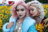 Ojo de cristal decorativas de la esquina de cristal cara adhesivo Pegatina para New-Year tatuaje corporal Festival (SR-05)