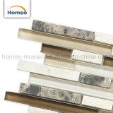De Materiële Strook van uitstekende kwaliteit van de Steen poetste Mozaïek van het Glas van de Mengeling het Bruine op