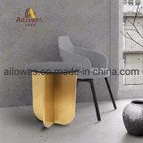 Leisure Coffee Shop mobiliário topo de mármore em aço inoxidável Ronda da base da mesa de chá